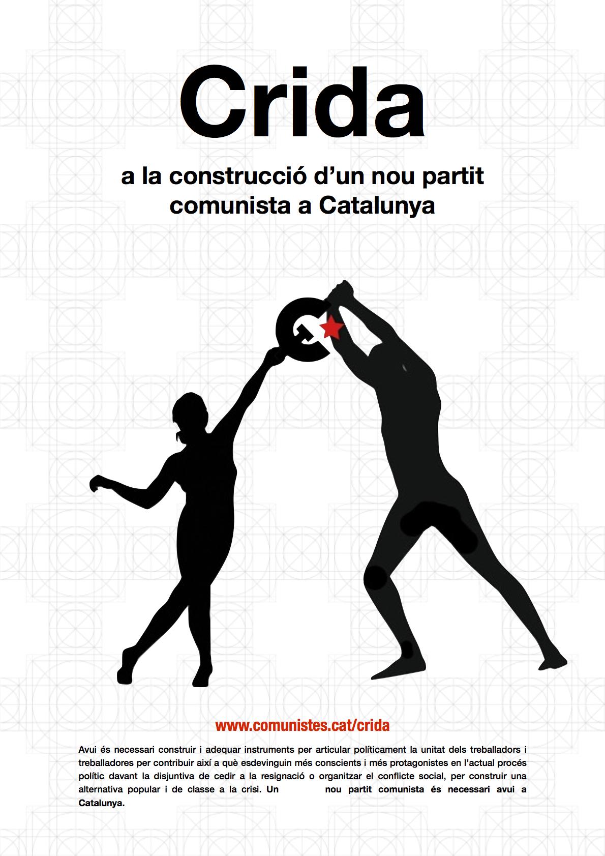 Crida  a la construcció d'un nou partit comunista a Catalunya
